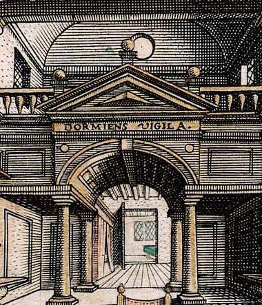 Надпись «Dormiens vigila» крупным планом